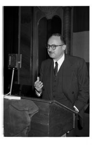 Moses Beckelman at the annual Country Directors Conference, Paris, 1955
