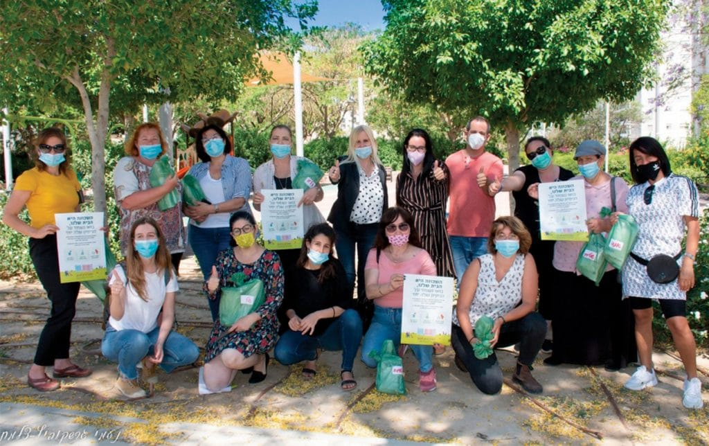 פעילות קהילת באר שבע במהלך הקורונה (צילום: באדיבות פעילי קהילת באר שבע)